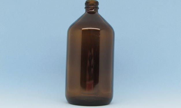 Vidro Âmbar 500 ml rosca 24 mm