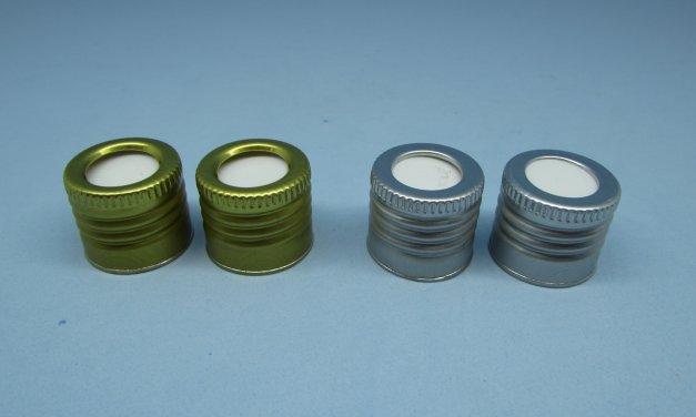 Tampa Alumínio rosca com furo – rosca 24 mm